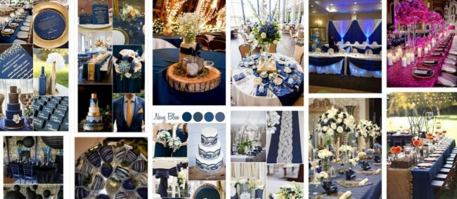 Navy Blue Decorations For Wedding Party 2021 General Use Furniture