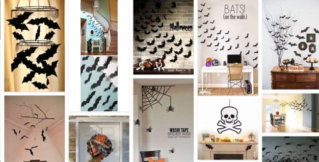 Bat Decorations For Wall Halloween Diy 2021 General Use Furniture