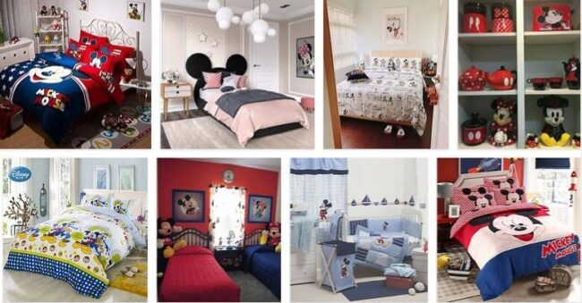 Mickey Mouse Home Bedroom Christmas Decorations 2021 Bedroom Furniture