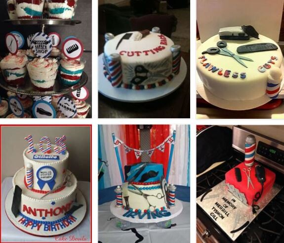 Barber Shop Party Cake Decorations Ideas 2021 General Use Furniture