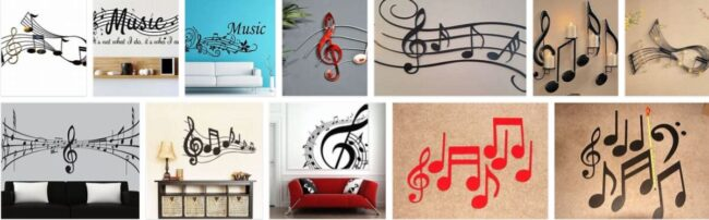 Musical Notes Wall Decorations 2021 General Use Furniture